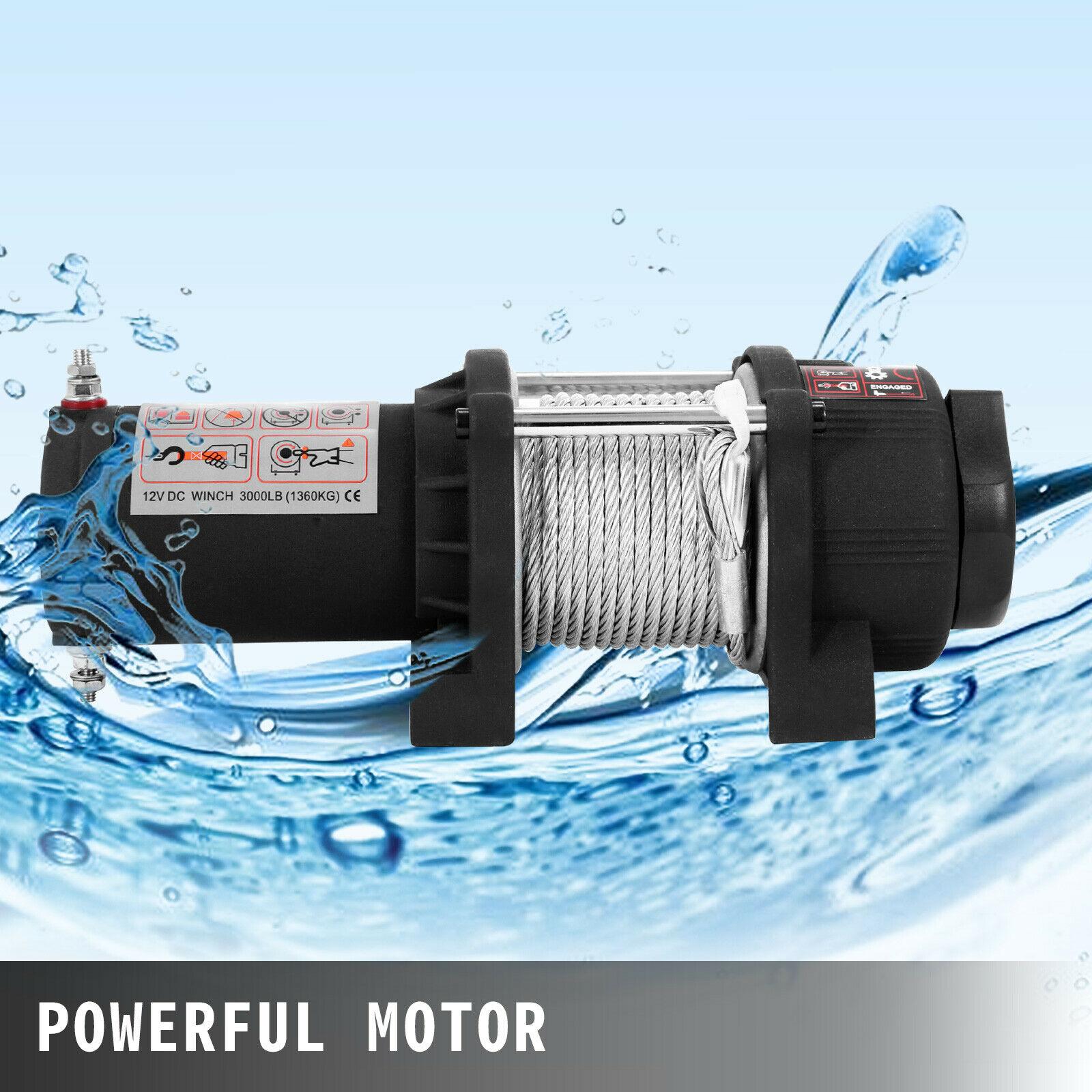 Электрическая лебедка 1360 фунтов, электрическая лебедка для восстановления 12 В, комплект для восстановления лебедки с беспроводным дистанц...