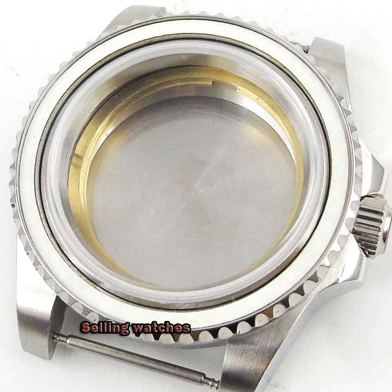 Parnis-علبة ساعة من الفولاذ المقاوم للصدأ المصقول ، زجاج معدني صلب ، متوافق مع حركة Miyota 2824 2836 8215 ، 40 مللي متر ، جديد
