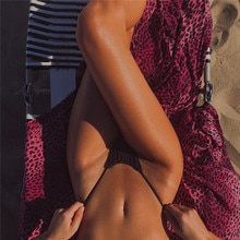 Women Sexy Black Swimming G-Thong Swimwear Brazilian Cheeky Bikini Bottom