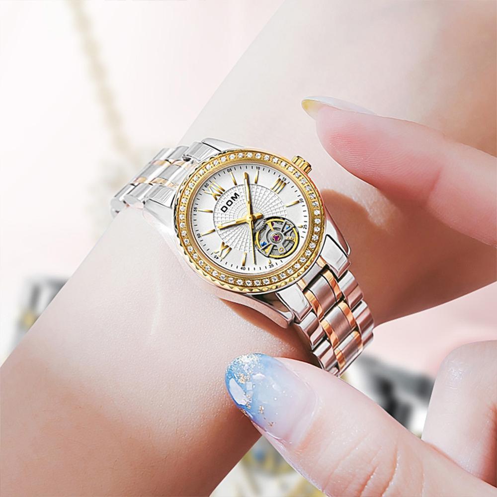 DOM automatic mechanical watch  female watch  couple watch  sports  men's watch  stainless steel  waterproof  luminous  business enlarge