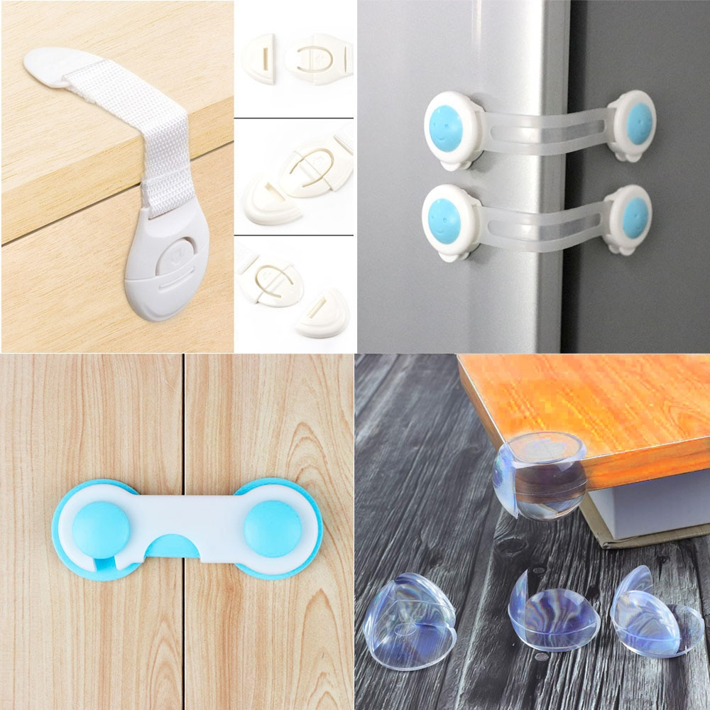 5pc/10pc Child Protection Multifunction Baby Safety Door Lock Drawer Cupboard Window Protection Baby
