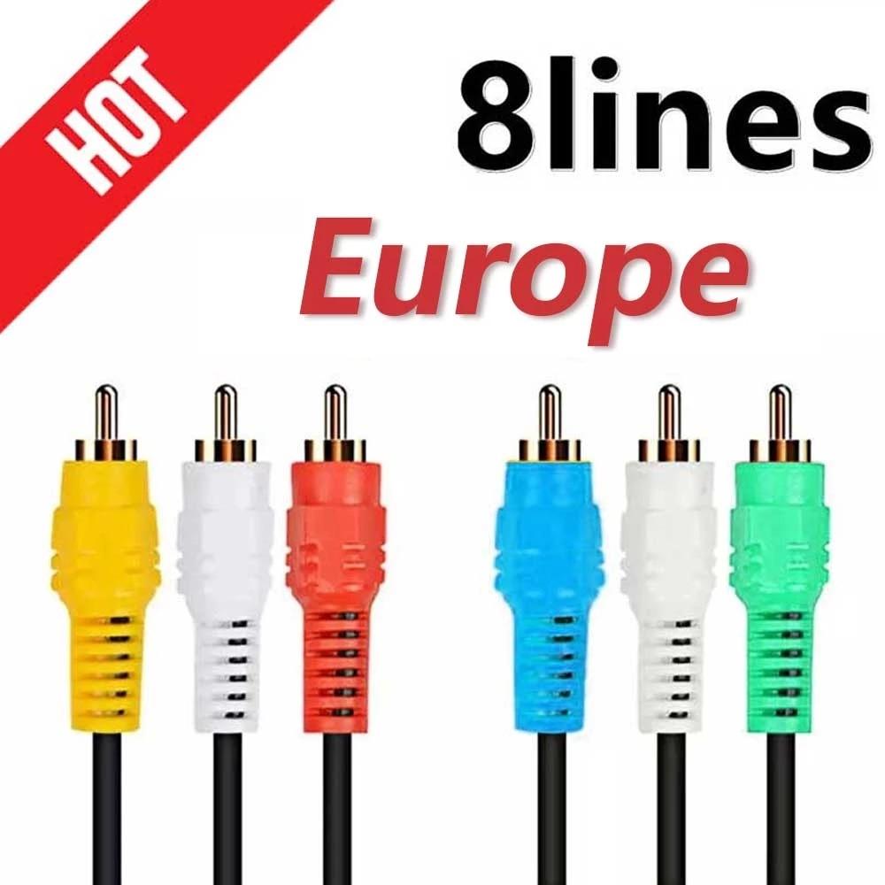 AliExpress - Comprar Cable TV link Video AV cable 3-8 lines Oscam Stable Receptois CCTV Europe with speaker oscam for europecam