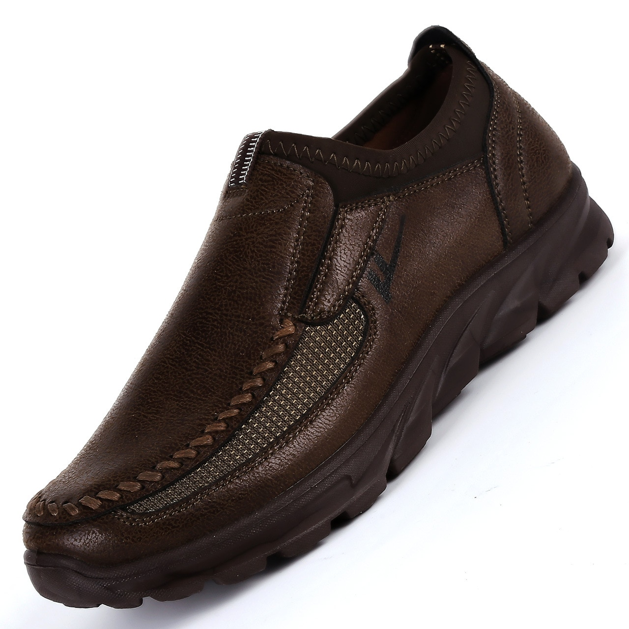 Zapatos informales de marca de lujo para hombre, Zapatillas ligeras transpirables, zapatos de caminar para hombre, malla de moda, calzado, tamaño grande 38-48