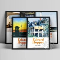 edward hopper neoclassicism poster railroad sunset art prints the mansard roof wall picture office in a small city wall decor