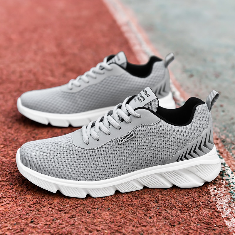 Damyuan New Rubber Sole Men Running Sports Shoes Male Mesh Breathable Flat Casual Sneakers Man Black 48 Large Size Walking Shoes