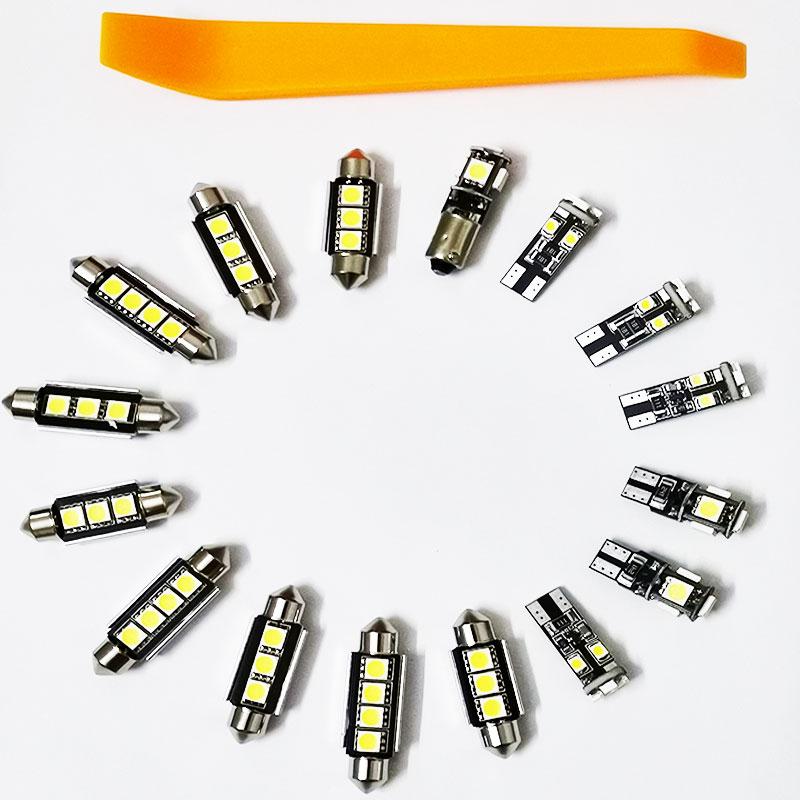 16 teile/satz Weiß Auto LED Canbus Innen Beleuchtung Lampe Make-Up Spiegel Pedal Lesen lichter Paket Für VW Passat B6 2006-2010