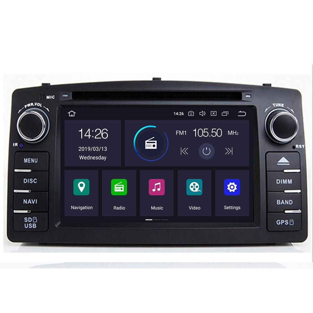 4g 64g dsp 2 din android 10 carro dvd player multimídia gps autoradio para toyota corolla e120 e 120 byd f3 rádio do carro pc wifi obd2
