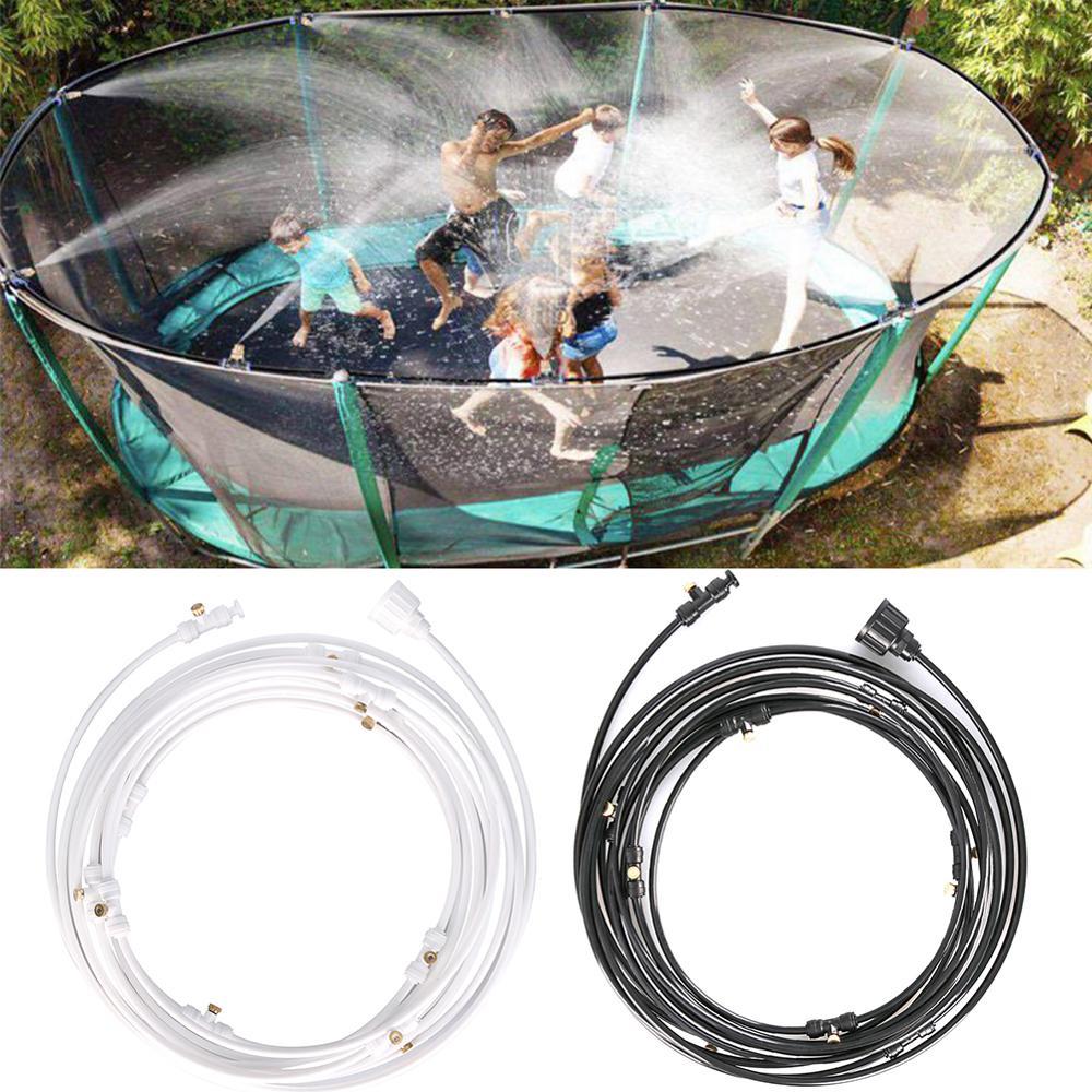 Verão água nebulização sistema de refrigeração kit latão bico jardim estufa ao ar livre plantas rega irrigação conjunto mangueira aspersão