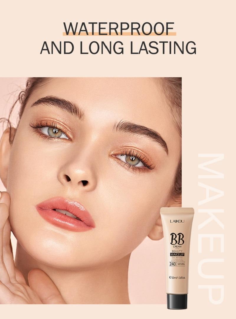 30ml BB Cream Long Lasting Sweatproof Brighten Skin Concealer Cream Face Whitening Makeup Cosmetic 3 Colors недорого