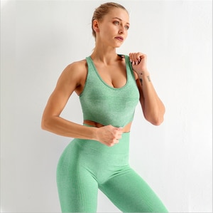 Seamless high-stretch hollow and quick-drying tights fitness clothing sports bra  DS47