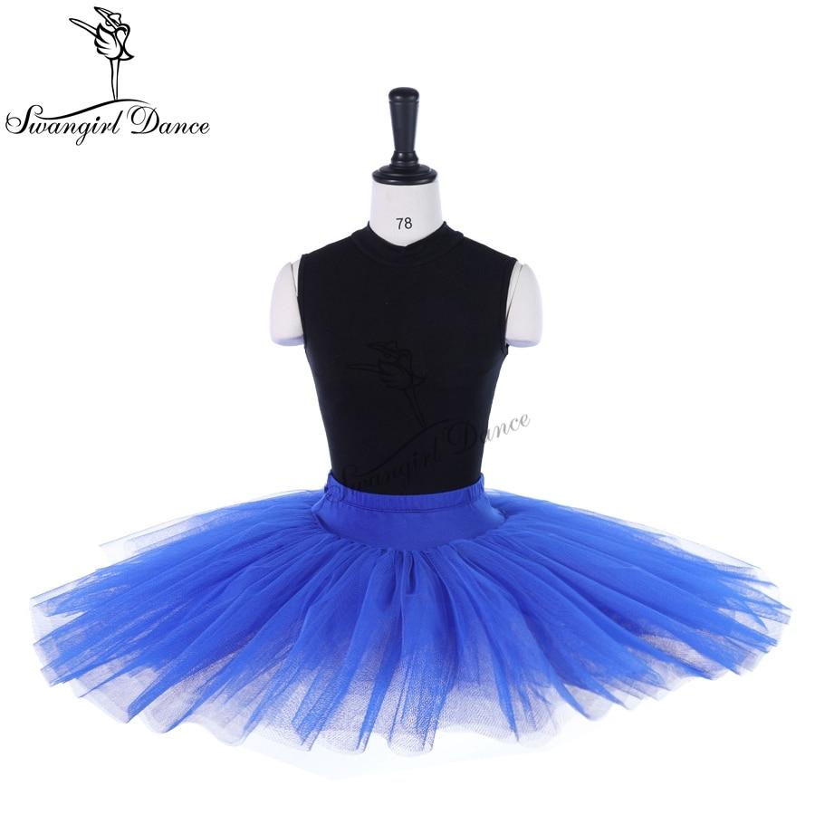 Las mujeres azul real profesional mitad tutú de Ballet ensayo tutú para baile chicas BT8923