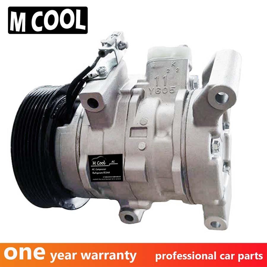 Compresor de CA 10S11C para recogida Toyota Hilux III 2.5D-4D 3.0D-4D 447160-1970 447160-2020 447180-8280 447260-8020 4471601970