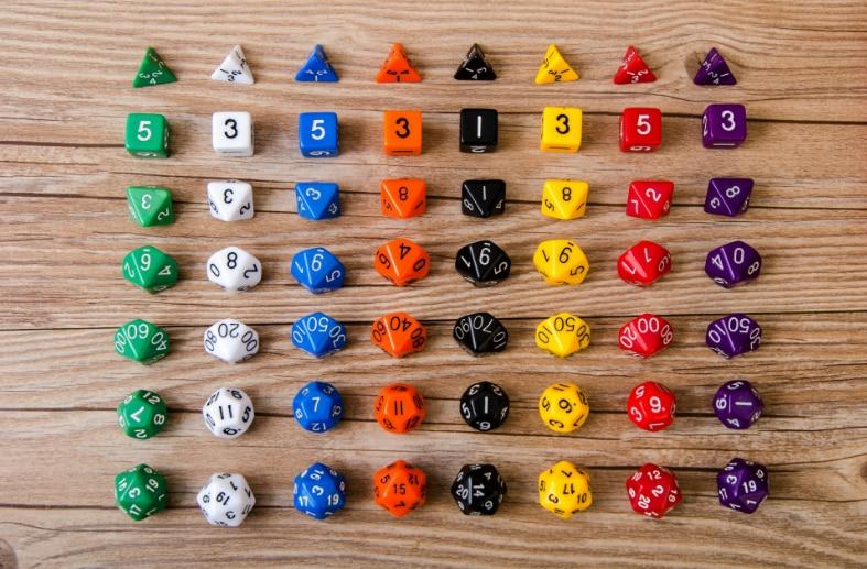 Кубики развивающие для детей, набор из 7 обучающих костей, математические детали/набор, игрушка TRPG, для детей