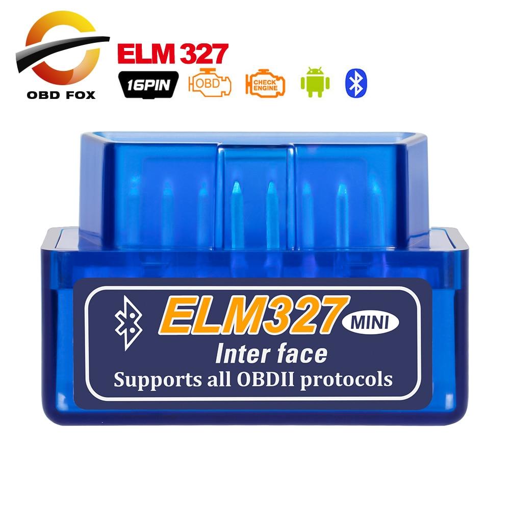 V2.1 Super Mini ELM327 Bluetooth-compatible Car Diagnostic cable ELM 327 mini brake fluid tester obd2 code readers scan tools