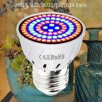 grow light ac220v e27 phyto lamps e14 led fitolampy gu10 lamp for plants b22 full spectrum seedling bulb mr16 led uv ir 4w 6w 8w