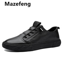 2021 New Men Shoes Leather Cowhide Leather Shoes Men Comfortable Low-top British Casual Single Shoes