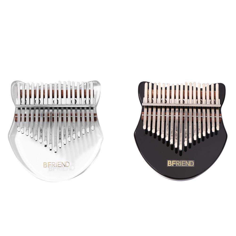 17 chaves kalimba cristal acrílico kalimba instrumento musical polegar dedo piano africano sanza mbira com afinação martelo adesivo