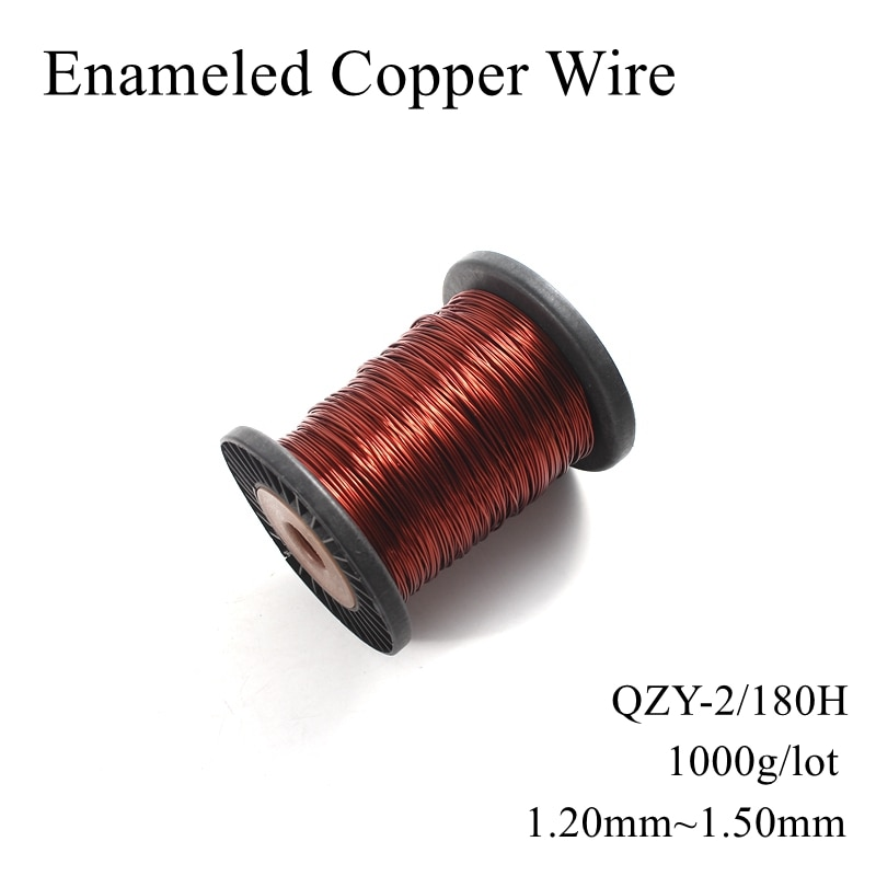 Bobine magnétique en fil de cuivre émaillé   Câble magnétique à enrouler, fil de cuivre émaillé, 1.2mm 1.25mm 1.3mm 1.35mm 1.4mm 1.45mm 1.5mm 180H
