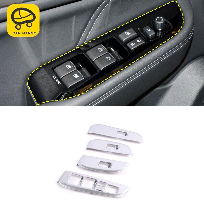 CarManGo para Subaru Outback 2015-2019 estilo de coche puerta de la ventana ascensor interruptor de botón Marco de Panel Etiqueta Interior Accesorios