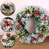 203040cm wall hanging christmas large wreath decorations for xmas party door garland ornament home artificial rattan decor