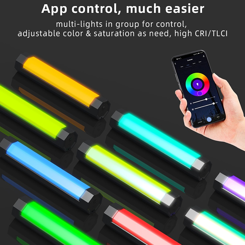 Handheld RGB  LED Photography Light Stick Waterproof Video Recording Fill Soft Light Tube with APP Remote Control vs 6C Pavotube enlarge