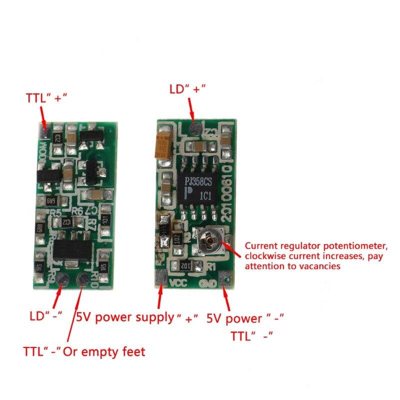 2021 New 635nm 650nm 808nm 980nm TTL Diode Driver Board Drive 5V Supply 50-300mA