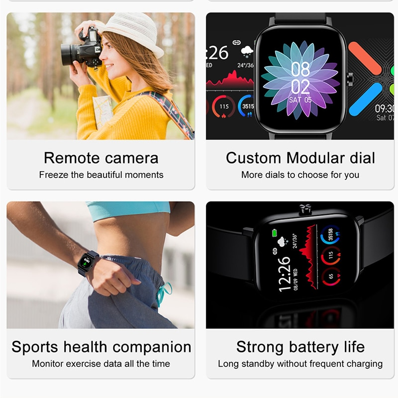 CHYCET NEW Women Men Smart Watches 2021 Dial Call Smartwatch  Sleep Sport Fitness Monitor Watch For Android IOS Huawei Xiaomi