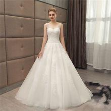 2020 New Design Sexy Princess Wedding Dress Long Elegant Beading Embroidery Wedding Gown Custom V-Neck Backless Robe Mariage