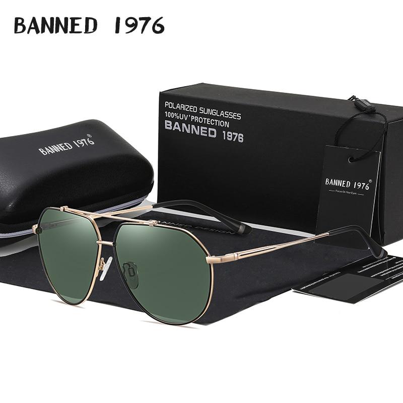 2021 New Trend Quality Alloy Men's Sunglasses Original Polarized Sun glasses Women Aviation Mirror E