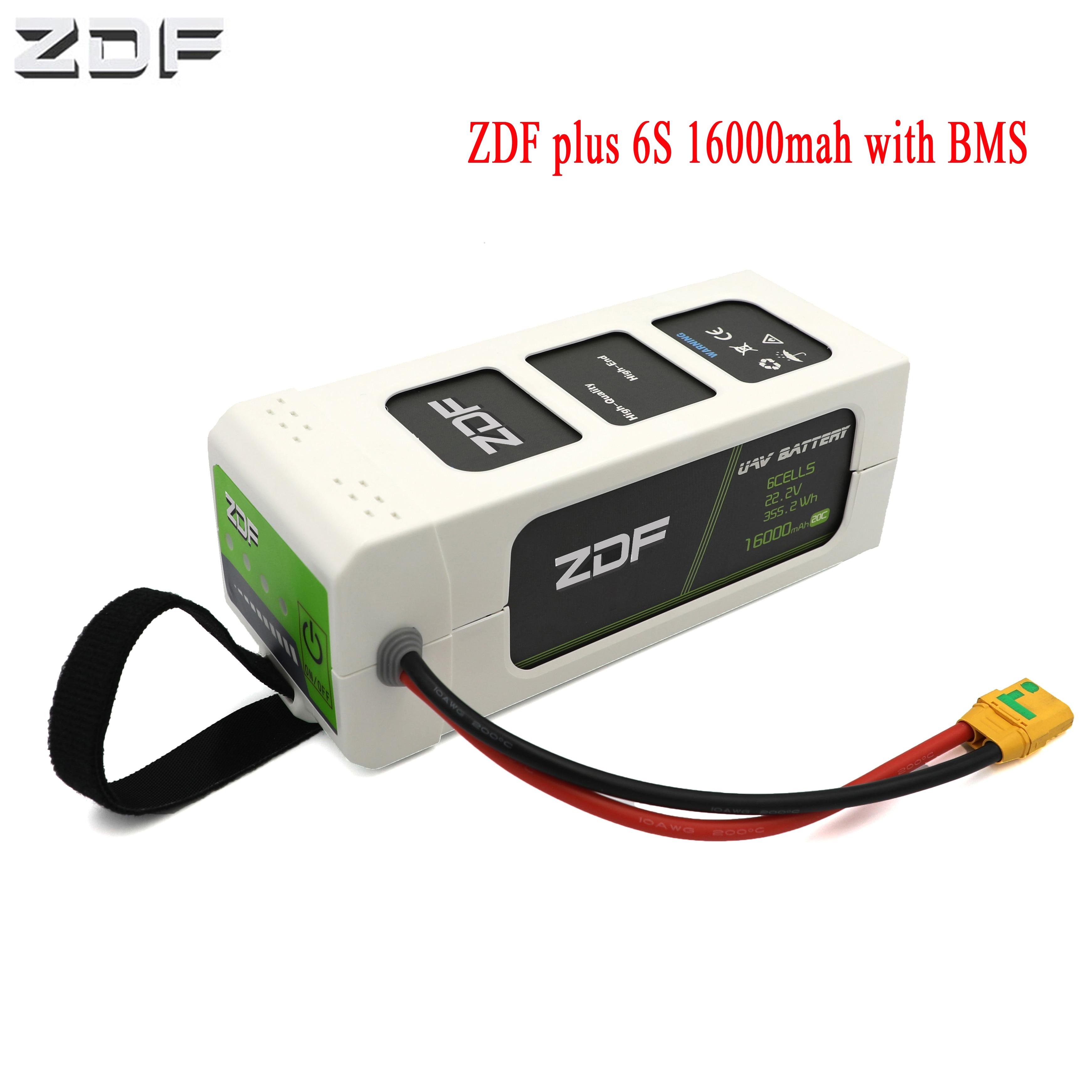 2019 nuevo PLUS ZDF 16000mAh 6S 22,2 V 6S1P 25C FPV batería Lipo inteligente con BMS para Dron RC