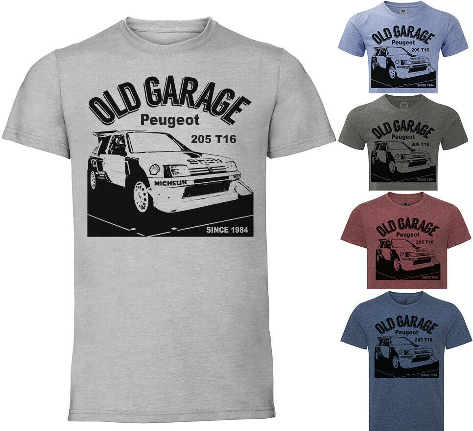 Peugeot 205 T16 Camiseta Maglietta Camiseta Oldtimer de mujer T/clase camisa/Camiseta tipo mujeres de suave Camiseta ser amable coche Rally WRC