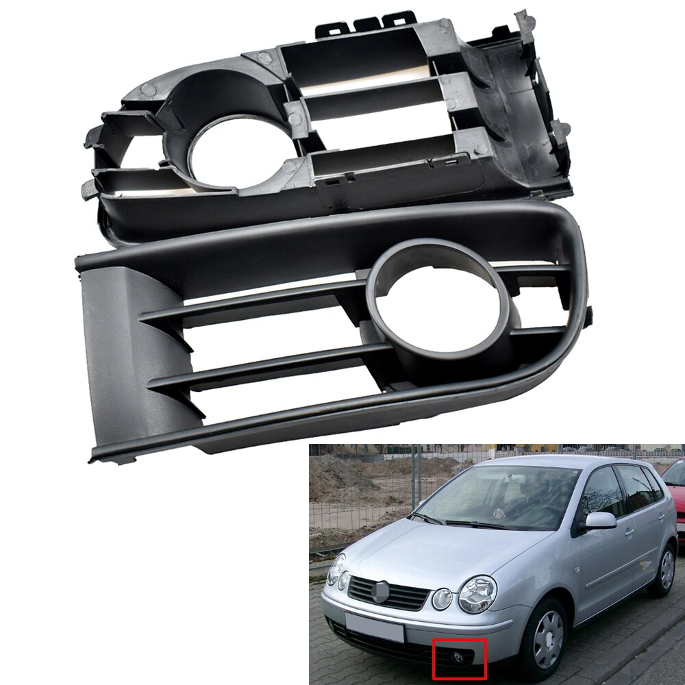 2 uds Polo 9N. 2001, 2002, 2003, 2004, 2005-estilo de luz de niebla de la rejilla de lámpara antiniebla cubierta