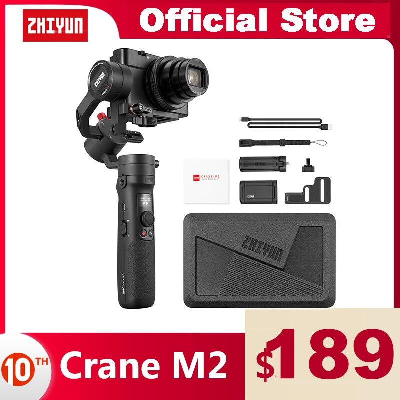ZHIYUN Crane M2 Ручной 3 осевой стабилизатор официальный кран Для беззеркальных