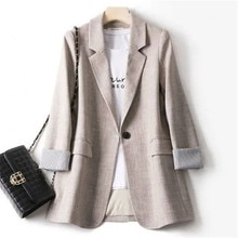 2021 Autumn Women Blazers And Jackets Long Sleeve Slim Business Suit One Button Office Lady Blazers
