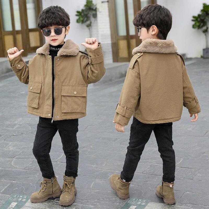 2021 Winter Kids Clothes Fashion Jacket For Boys Fleece Velvet Baby Boys Coat Children Outerwear Thick Warm Coat For Boys D220 enlarge