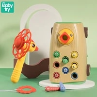 children baby montessori toys for one year old kids educational gift juguetes bebe pull car magnetic whac a mole woodpecker game