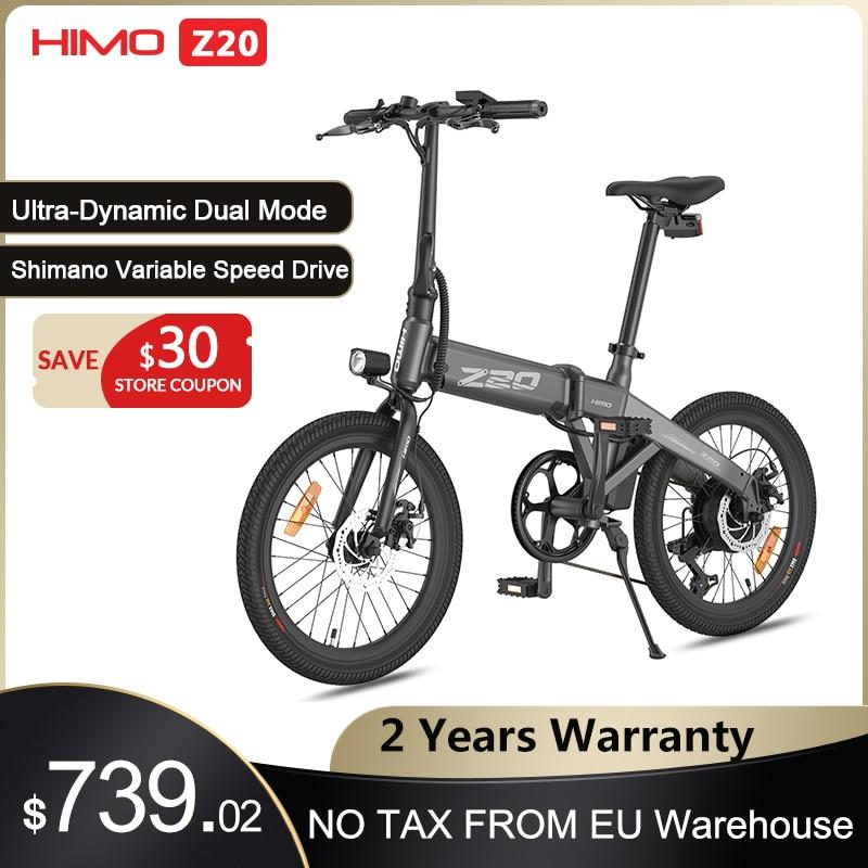 aliexpress - 【EU STOCK】HIMO Z20 Electric Bike Folding E-Bike 250W 10Ah Ultra-Dynamic Dual Mode Outdoor Urban Bicycle 80KM Mileage Beach ebike