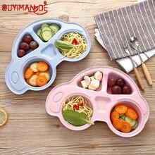 Boîte à déjeuner accessoires créatif voiture forme blé paille pour enfants enfants assiette Bento boîte cuisine nourriture conteneur école boîte à déjeuner