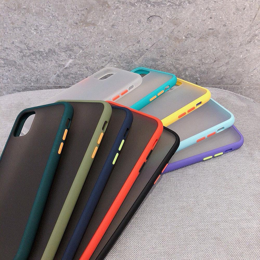 Carcasa antigolpes de varios colores para Iphone 11 11pro max XS XR XS MAX 6 6S 7 8 Plus SE funda protectora transparente mate para teléfono
