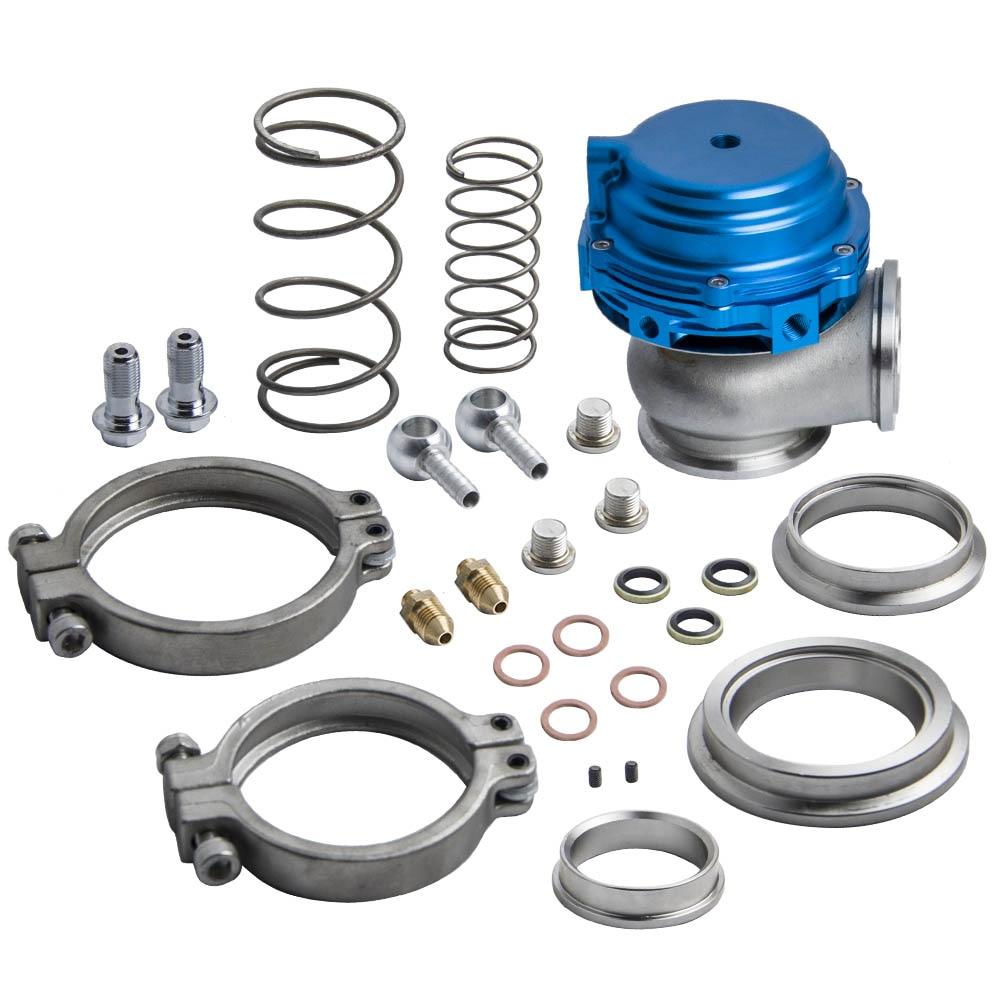 44mm Turbo Manifold Boost Blau v-Band Clamp Externe Wastegate + Ring/Quellen