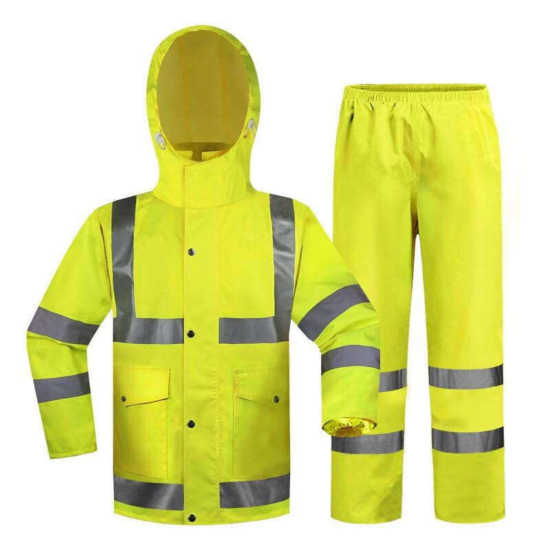 Yellow Split Traffic Raincoat Pants Clothing Suit Outdoor Adult Raincoat For Men Women Split Solid Color Rain Coat Poncho LD690 enlarge