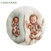 coziness cotton foldable baby bed portable removable outdoor travel bed washable comfort anti collision newborn bed wholesale