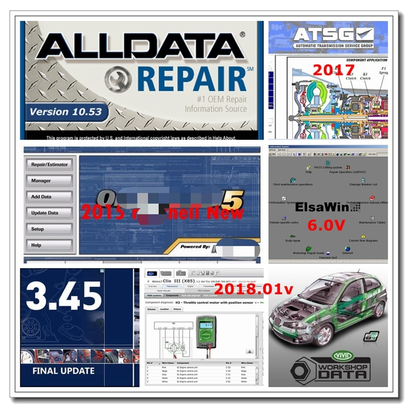 Alldata 2021 Hot Sale All Data Software Mit../Chell Auto...Data ATSG Vivid Workshop Atris Elsawin Tec/Doc Latest Version 1TB HDD недорого