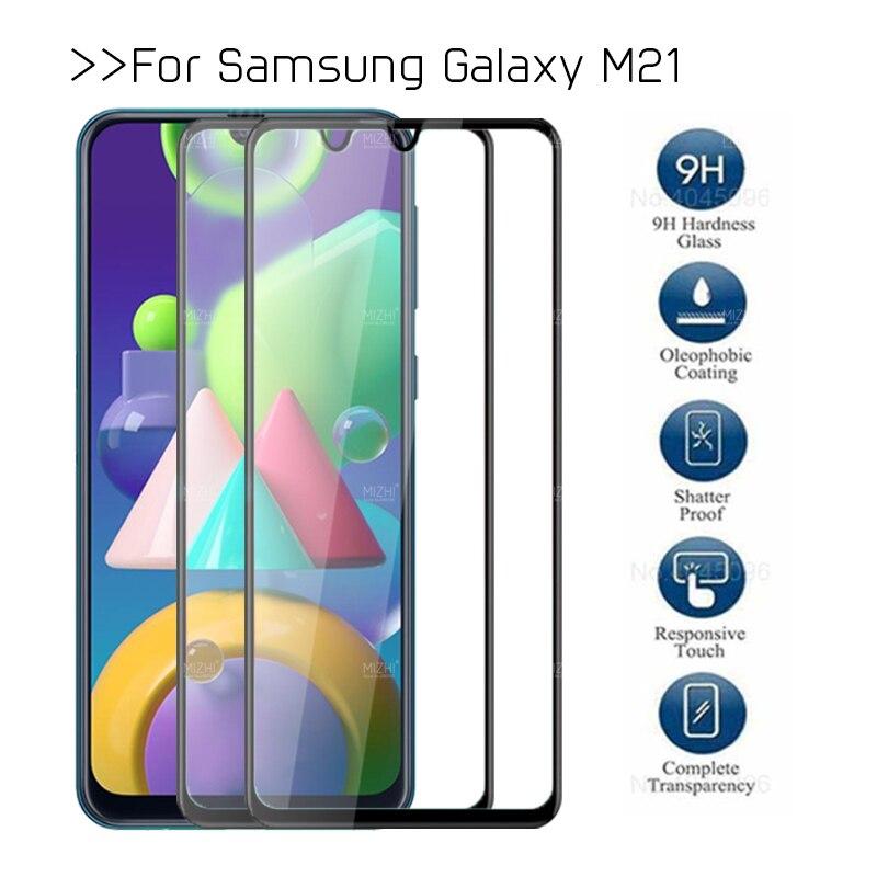 2 pçs vidro temperado para samsung m21 protetor de vidro para samsung galaxy m 21 21a Sm-m215f Sm-m215m filme protetor de tela