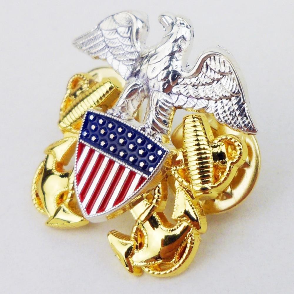 Wwii Us Navy Algemene Officer Schouder Metalen Eagle Kleine Rang Insignia Pin Badge Kokarde