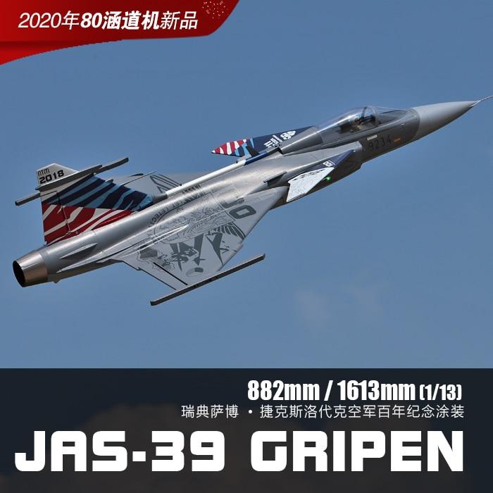 Freewing – avion radiocommandé de 80mm, modèle JAS-39, jouet