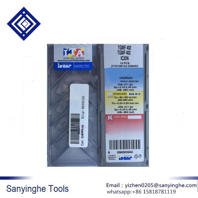 TGMF402 IC20N ISCAR cnc carbide turning inserts cnc blade cutting tool (10pcs /lots)