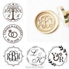 Sceau de cire à trois initiales   Sceau rustique personnalisé, en cire, personnalisé, Kit de scellage, initiales, sceau dinvitation