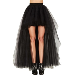 Mingli Tengda Women Tulle Sexy Black Front Short Back Long Fluffy Petticoat Rockabilly Wedding Accessories Jupon Underskirt