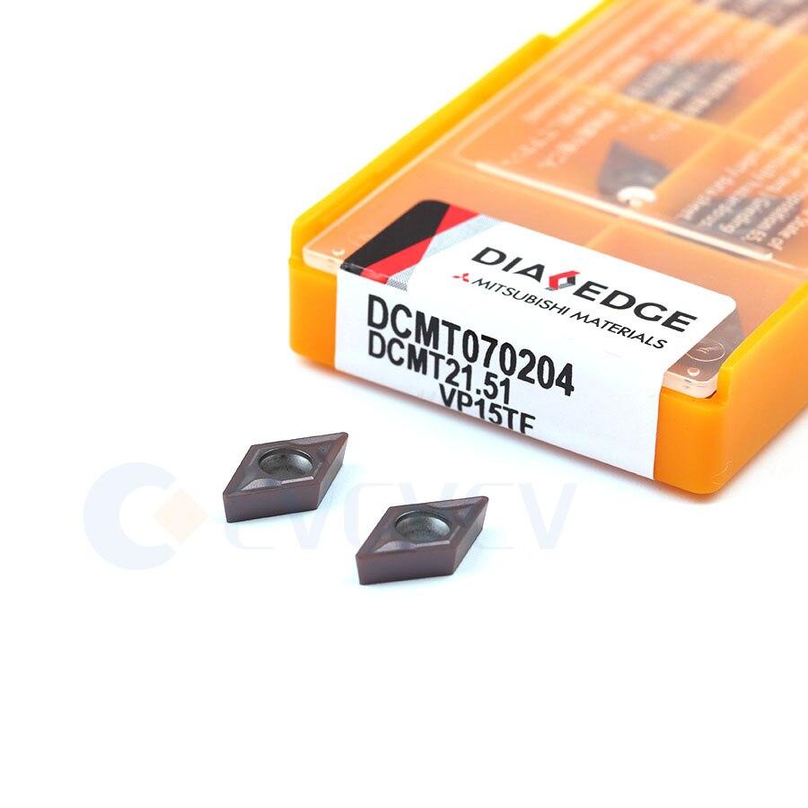DCMT070204 DCMT070208 US735 UE6020 VP15TF hojas de aleación dura herramienta de torno de CNC acero y acero inoxidable herramienta de torneado